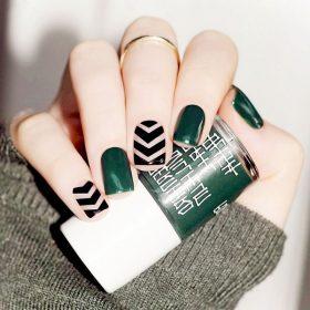 แบบเล็บสีเขียวสวยๆ